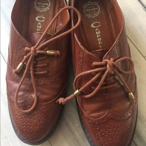 Jeffrey Campbell brogue leather shoes